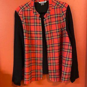 NWT Red tartan Nygard suede jacket/sweater